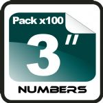 "3"" Race Numbers - 100 pack"